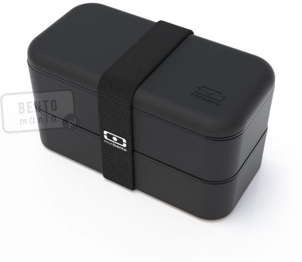 Bento Box MONBENTO Original 1 litr - dwupoziomowy, szczelny lunch box - czarny