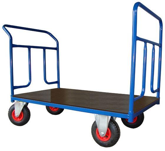 Dwuburtowy wózek platformowy, sklejka (1200x700), 250 kg