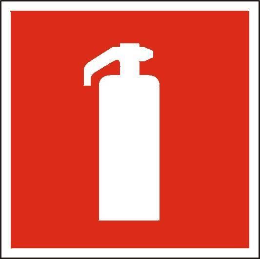 Znak ochrony przeciwpożarowej PANTA PLAST - gaśnica płyta foto - X02913