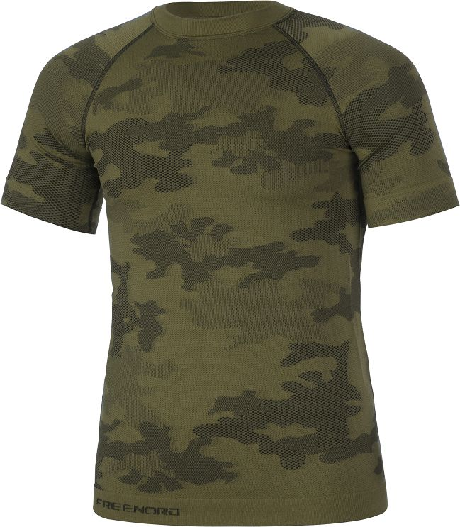 Koszulka termoaktywna FreeNord Tactical K/R - Camo