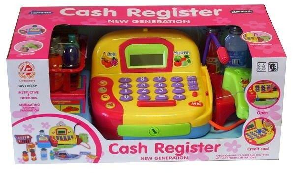 Kasa Sklep. Cash Register Z Kalkulkulatorem