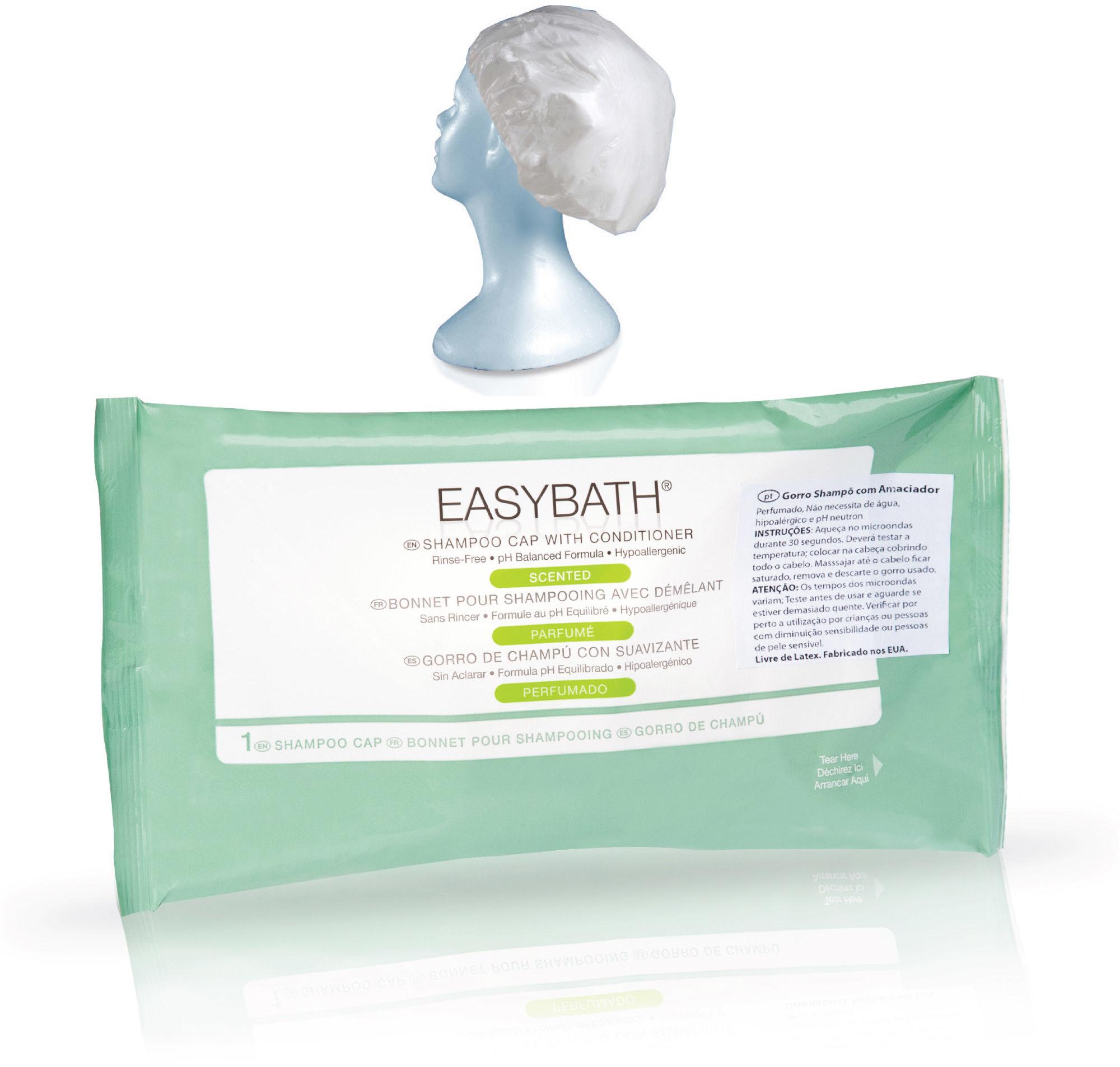 Czepek EasyBath do mycia włosów bez spłukiwania Czepek nie wymagający dodatkowego namoczenia głowy