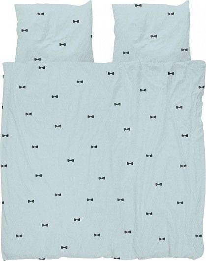 Pościel bow tie niebieska podwójna 200 x 200 cm