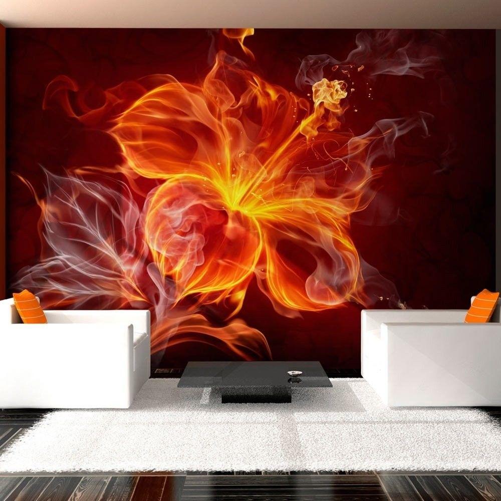 Fototapeta - ognisty kwiat