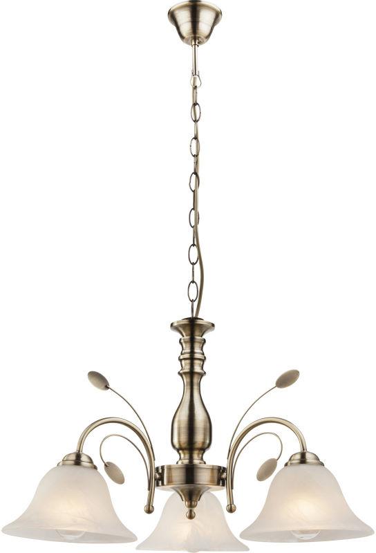Globo POSADAS 69007-3H lampa wisząca antyczny mosiądz 3xE27 60cm