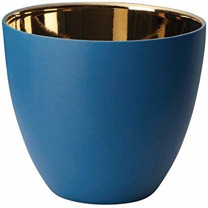 ASA Lights lampion z porcelany, niebieski, wysokość 8 cm / średnica 9 cm