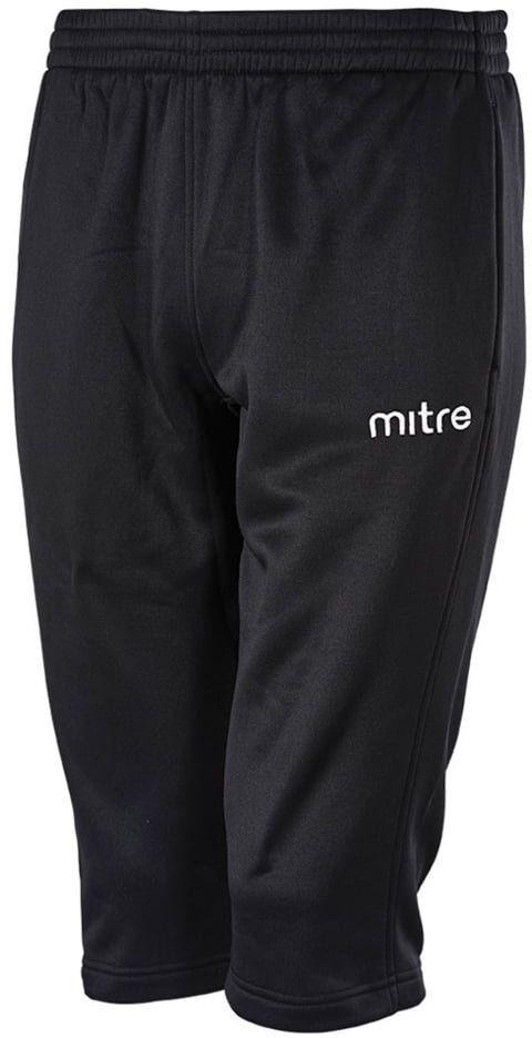 Mitre Kid''s Primero 3/4 poli piłka nożna treningowa spodnie, czarne, duże