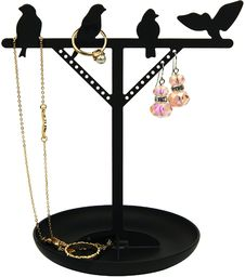 Kikkerland stojak na biżuterię dla ptaków, 13,3 x 10,2 x 15,2 cm