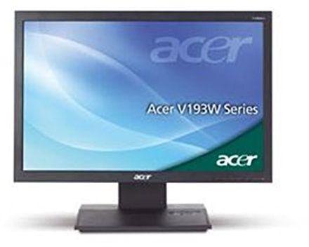 Acer V193WEb 48,2 cm (19 cali) monitor LCD VGA (kontrast dyn. 50000:1, czas reakcji 5 ms) czarny