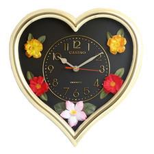 Zegar ścienny serce z kwiatami #1
