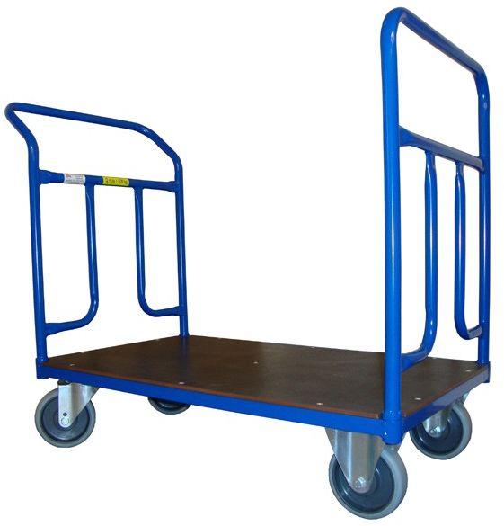 Dwuporęczowy wózek magazynowy, sklejka (1200x700), 400 kg