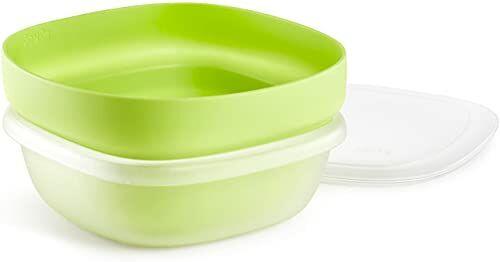 Lékué 0200302V10 3 w 1 silikonowy cedzak, zielony
