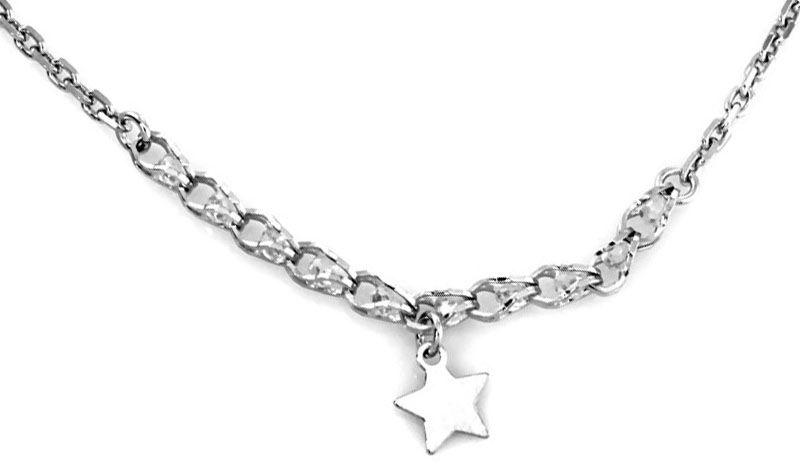 Srebrny naszyjnik 925 gwiazdka cyrkonie 4,80 g