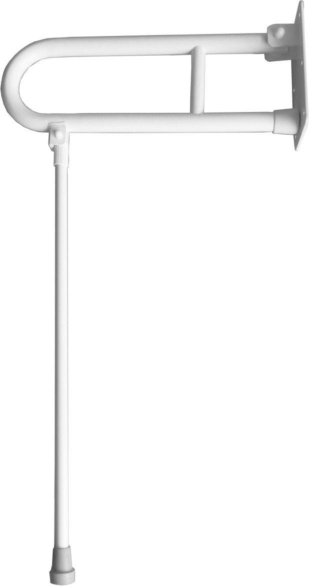 Uchwyt dla niepełnosprawnych uchylny z nogą fi 32 70 cm Faneco stal biała