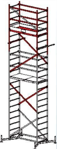 Rusztowanie robocze ClimTec Krause 7m (Podstawowe +1 i +2 kondygnacja)