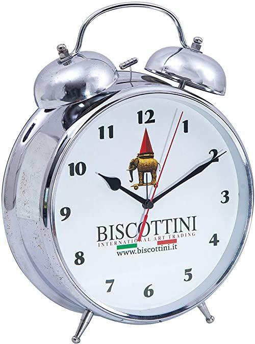 Biscottini budzik w stylu vintage z podwójnym dzwonkiem, dł. 23,5 x gł. 9 x wys. 30 cm