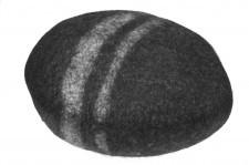 Pufa Kamień Popiel duży z filcu
