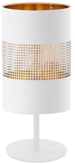 Lampa biurkowa designerska do domu i biura BOGART WHITE biały złoty