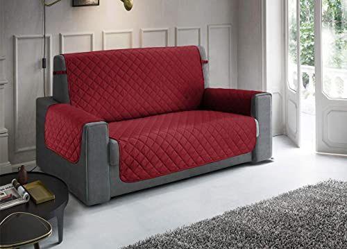 Pikowana narzuta na sofę, wodoodporna, odporna na zabrudzenia, antypoślizgowa, bordowa