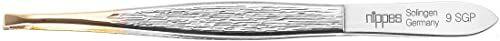 Nippes Solingen Pęseta 9SGP, do usuwania włosków brwi, stal niklowana, 9 cm