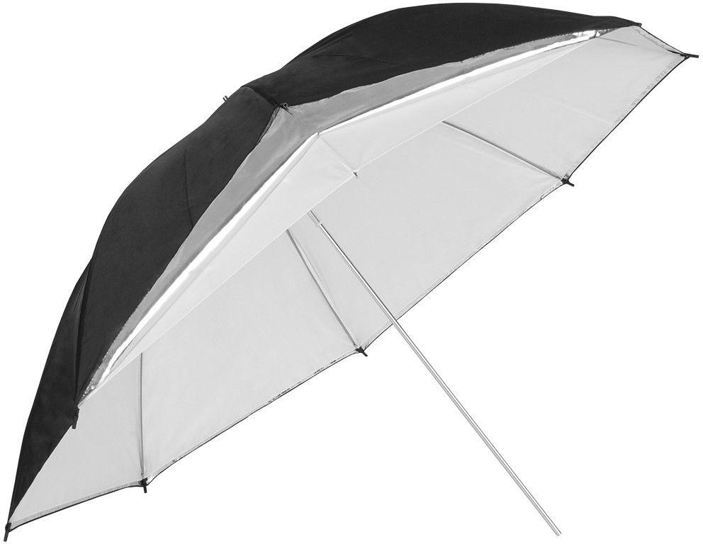 Parasolka srebrna GlareOne z dyfuzorem 110cm