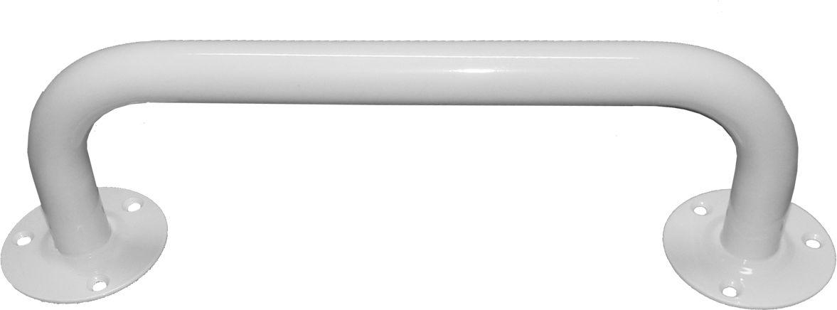 Poręcz dla niepełnosprawnych do łazienki prosta fi 25 20 cm Faneco stal biała