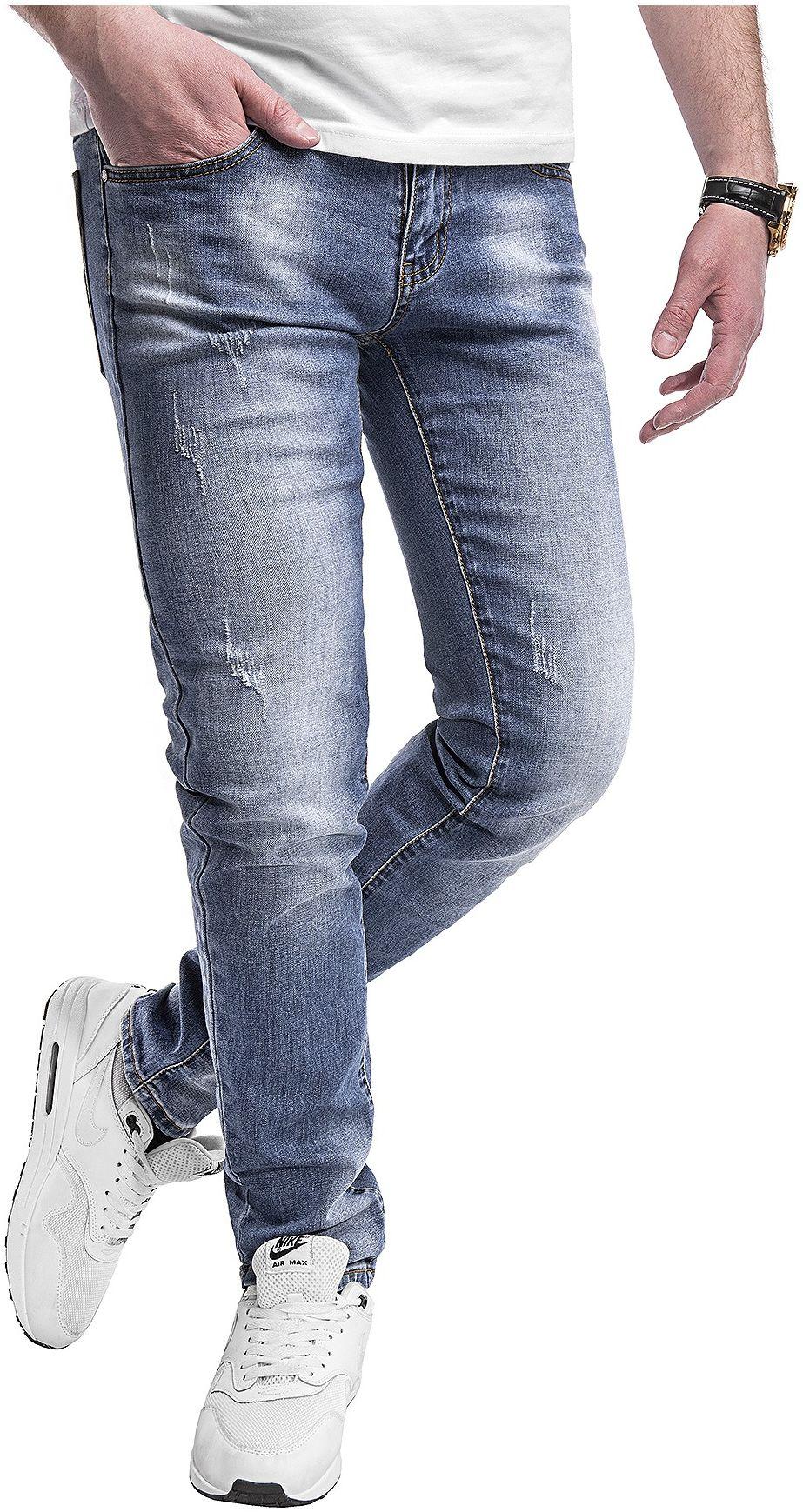 Spodnie jeansowe męskie - niebieskie 2069