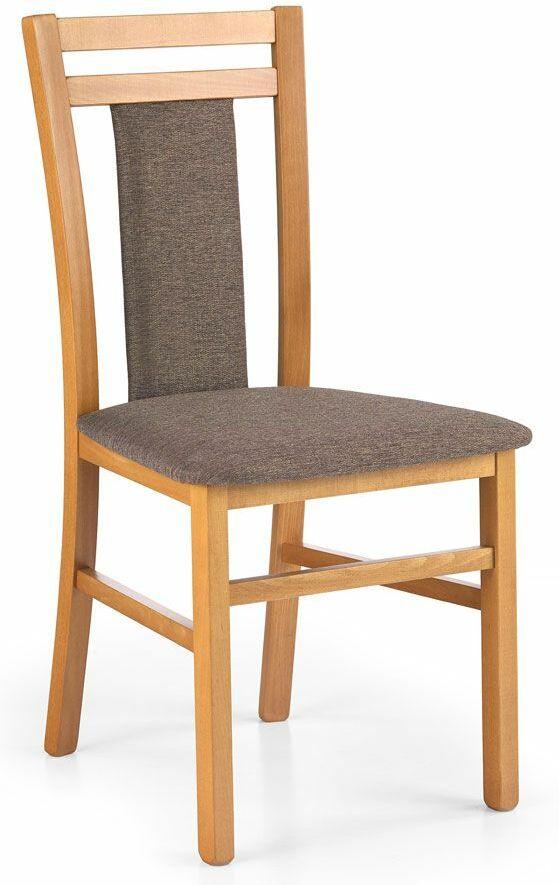 Krzesło drewniane tapicerowane Thomas - olcha