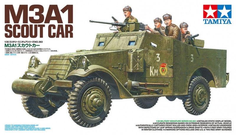 Model plastikowy M3A1 Scout Car