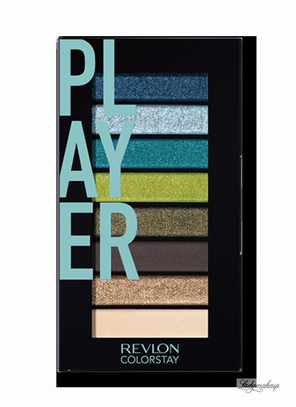 Revlon - LOOKS BOOK PALETTE - Mini paleta cieni do powiek - 910 PLAYER