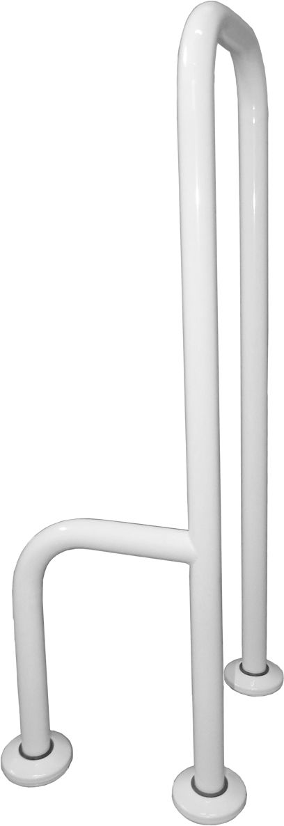 Uchwyt dla niepełnosprawnych 3-podporowy podłogowy prawy fi 32 Faneco stal biała
