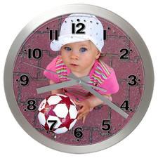 Zegar ścienny LOGO aluminiowy