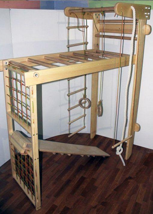 MAŁPISZON Drabinka gimnastyczna drewniana Czempion 2 drewno