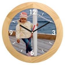 Zegar ścienny LOGO drewniany solid