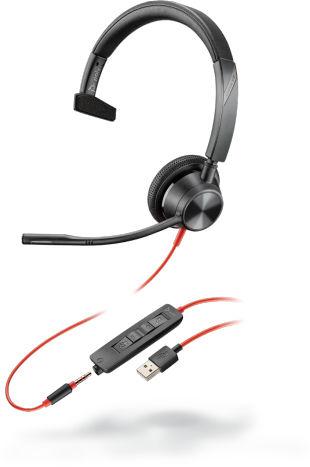 POLY Blackwire 3315 Zestaw słuchawkowy Opaska na głowę Złącze 3,5