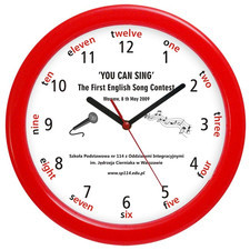 Zegar ścenny duży LOGO kolor