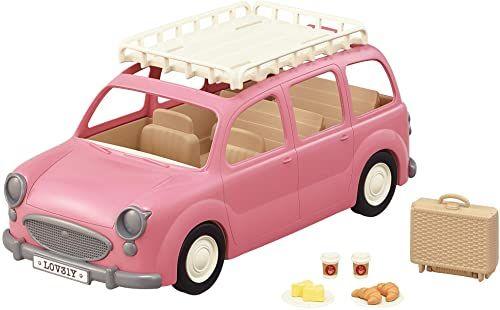 Sylvanian Families 5535 samochód rodzinny z akcesoriami piknikowymi  domek dla lalek auto zestaw do zabawy