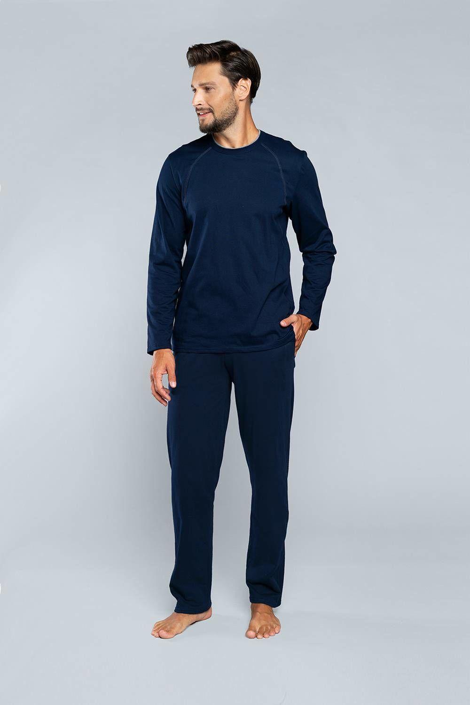 Piżama męska z długim rękawem i długą nogawką NIKO Italian Fashion