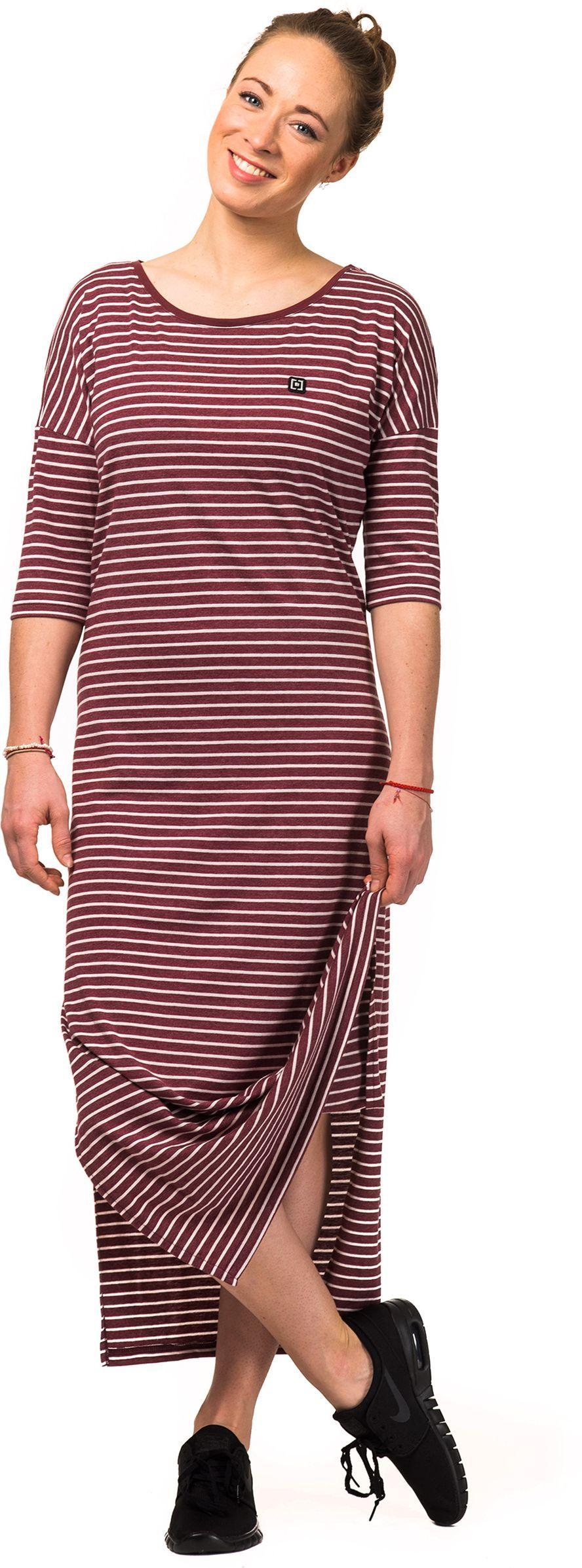 sukienka damska HORSEFEATHERS LILLIAN DRESS (burgundy stripes)