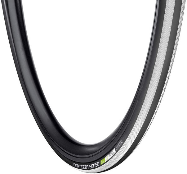 Opona rowerowa szosowa VREDESTEIN FORTEZZA SENSO All Weather 700x25 (25-622) zwijana wkładka antyprzebiciowa TPI120 240g czarno-biała VRD-28723
