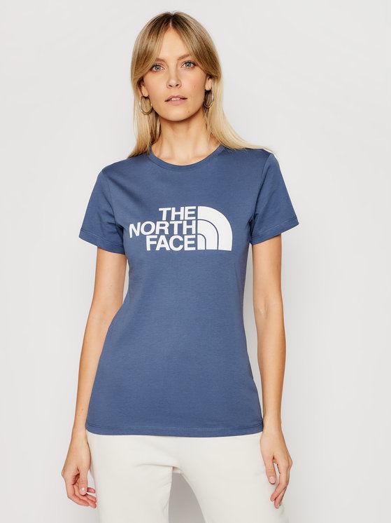 The North Face T-Shirt Easy NF0A4T1QWC41 Niebieski Regular Fit