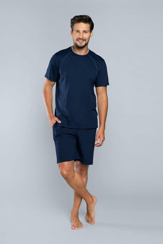 Piżama męska z krótkim rękawem i krótką nogawką NIKO Italian Fashion
