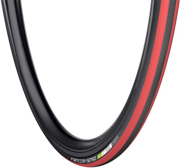 Opona rowerowa szosowa VREDESTEIN FORTEZZA SENSO All Weather 700x25 (25-622) zwijana wkładka antyprzebiciowa TPI120 240g czarno-czerwona VRD-28722