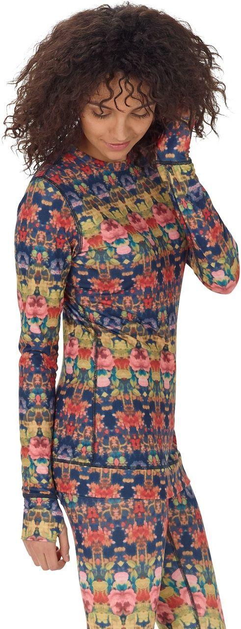 bielizna termoaktywna damska - bluza BURTON MIDWEIGHT CREW KALEIDOSCOPE