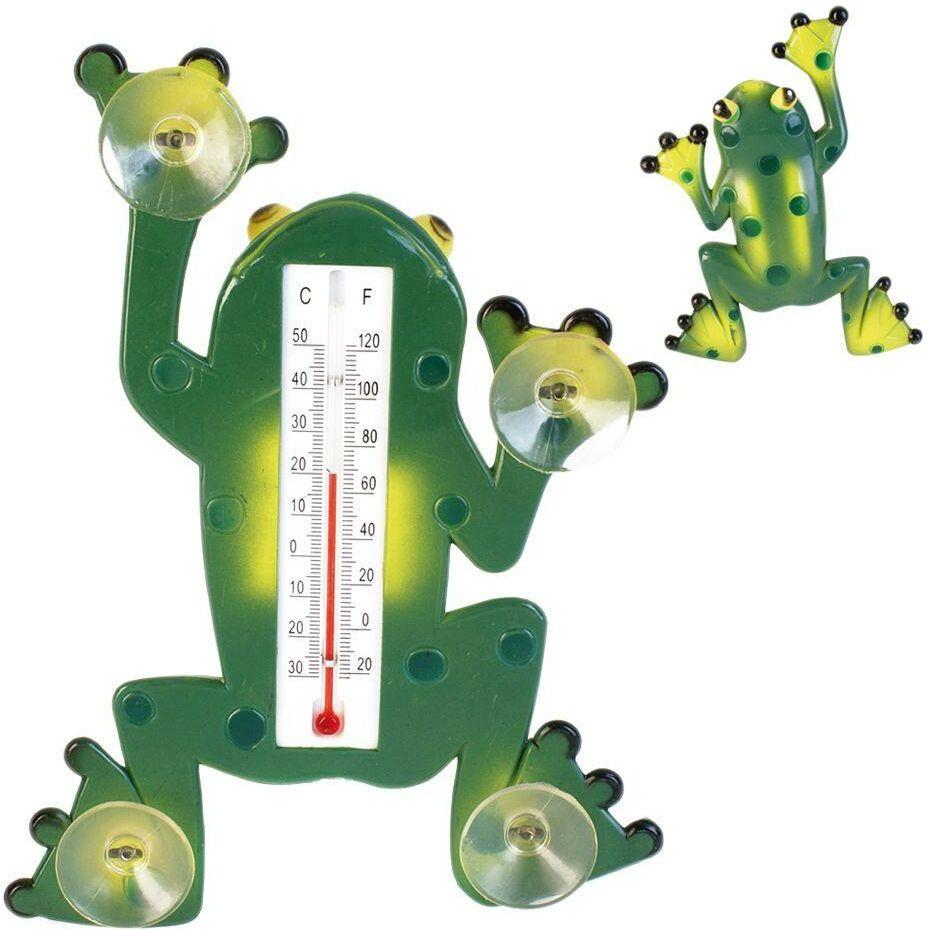Termometr okienny żaba zewnętrzny na okno przyssawki