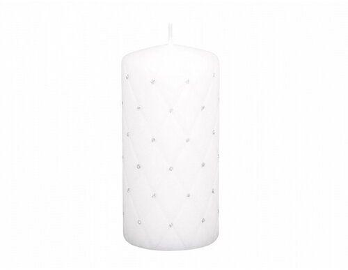 Świeczka dekoracyjna Florencja biały, 14 cm