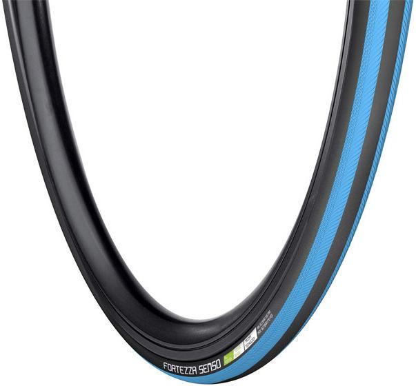 Opona rowerowa szosowa VREDESTEIN FORTEZZA SENSO All Weather 700x25 (25-622) zwijana wkładka antyprzebiciowa TPI120 240g czarno-niebieska VRD-28721