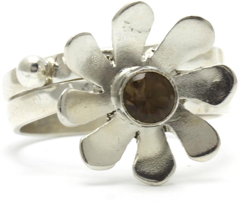Kuźnia Srebra - Pierścionek srebrny, rozm. 12, Kwarc Dymny, 3g, model