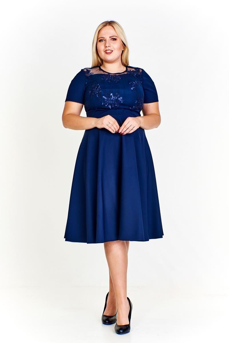 Sukienka FSU961 GRANATOWY