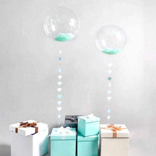 """Balon przeźroczysty, kryształowy 24"""""""